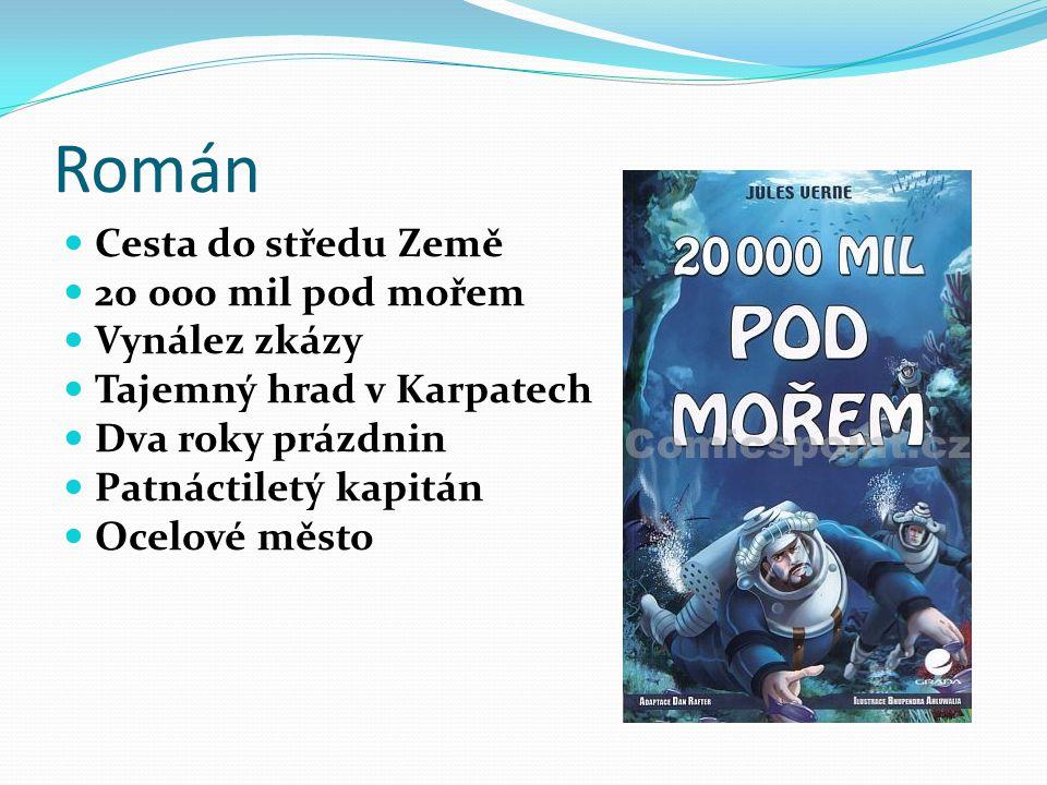 Román Cesta do středu Země 20 000 mil pod mořem Vynález zkázy