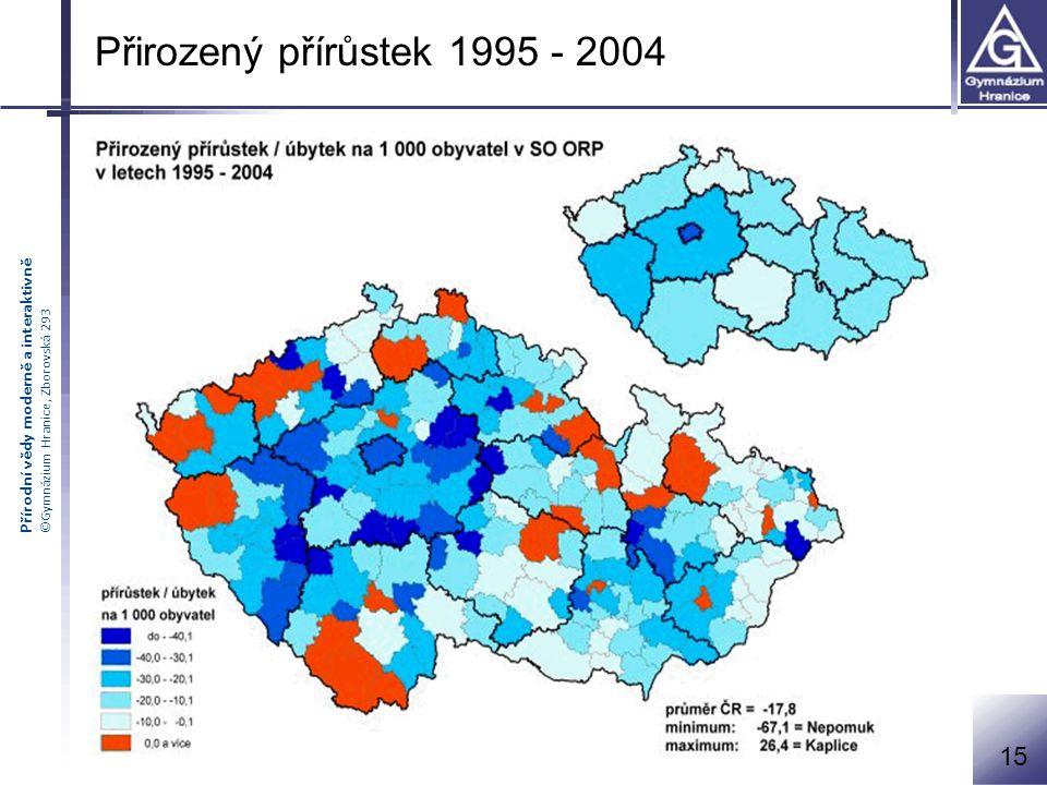 Přirozený přírůstek 1995 - 2004 15