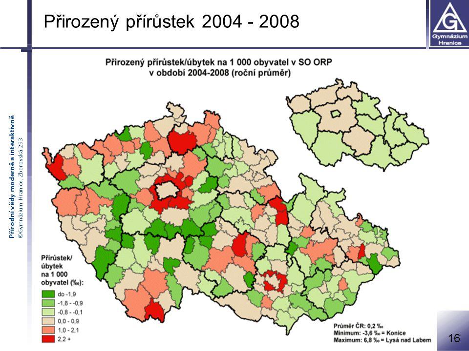 Přirozený přírůstek 2004 - 2008 16