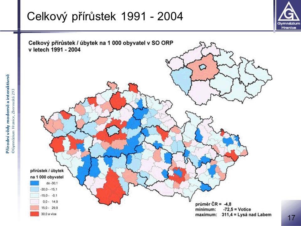 Celkový přírůstek 1991 - 2004 17