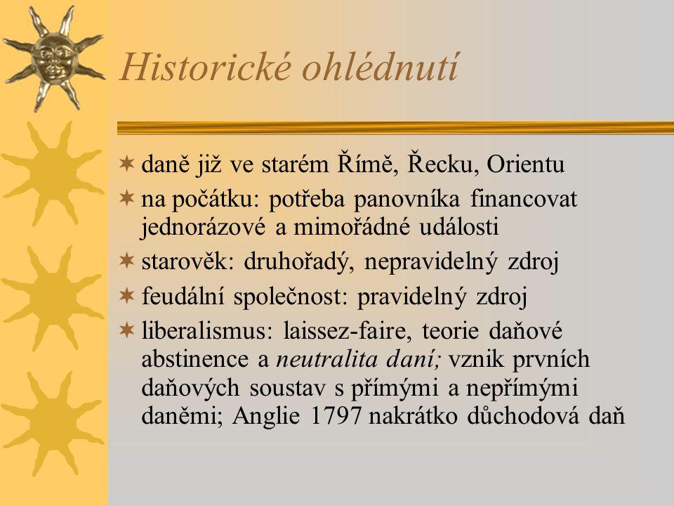 Historické ohlédnutí daně již ve starém Římě, Řecku, Orientu