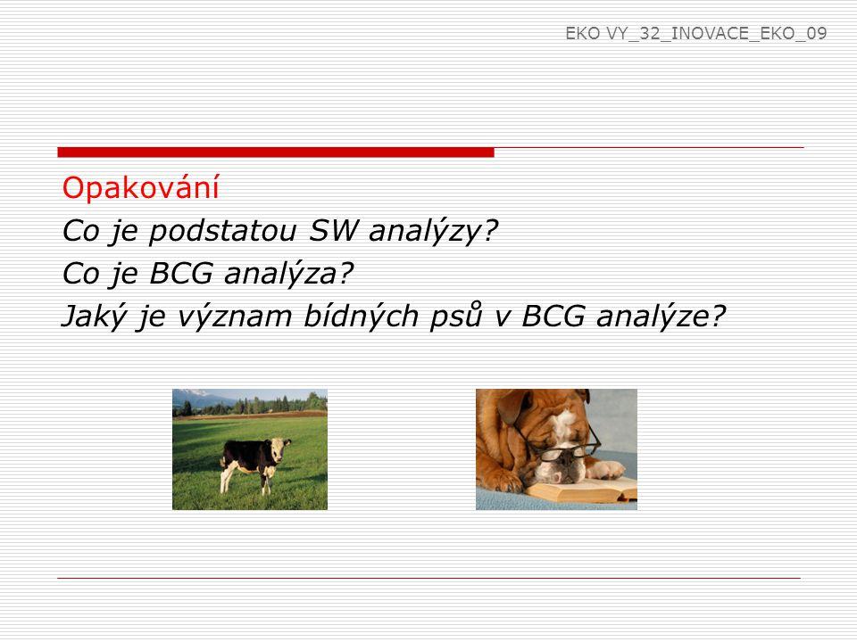 EKO VY_32_INOVACE_EKO_09 Opakování Co je podstatou SW analýzy.