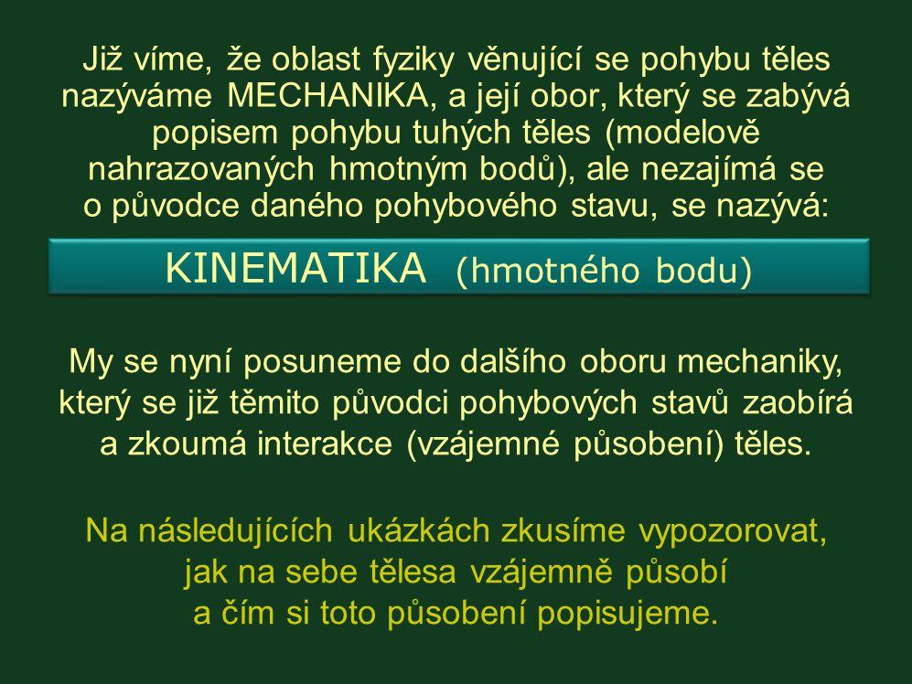KINEMATIKA (hmotného bodu)