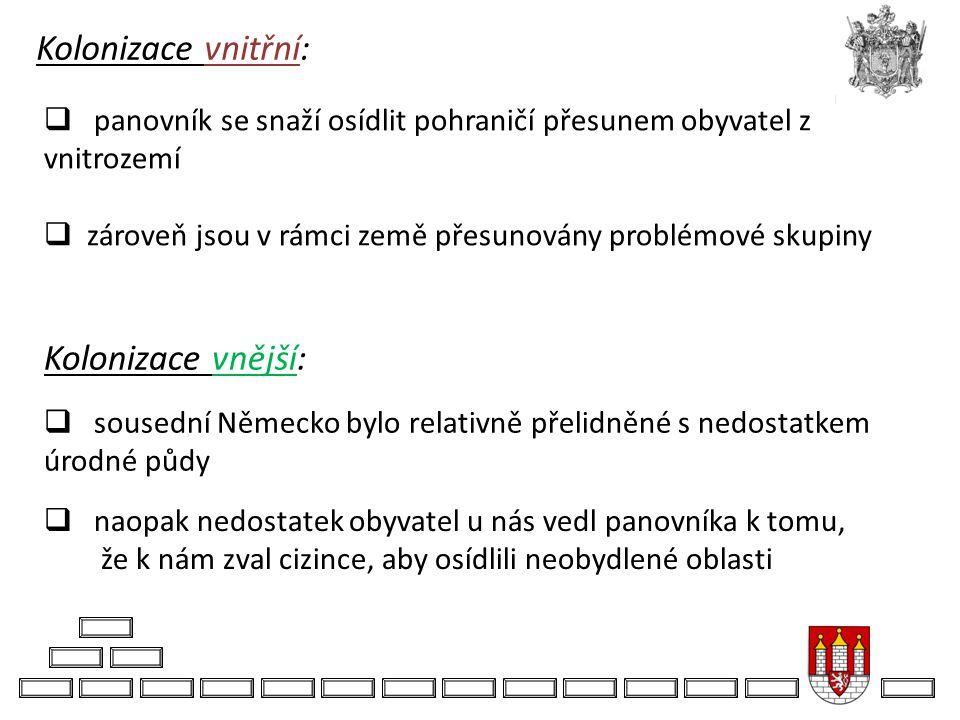 Kolonizace vnitřní: Kolonizace vnější: