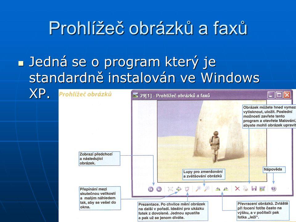 Prohlížeč obrázků a faxů