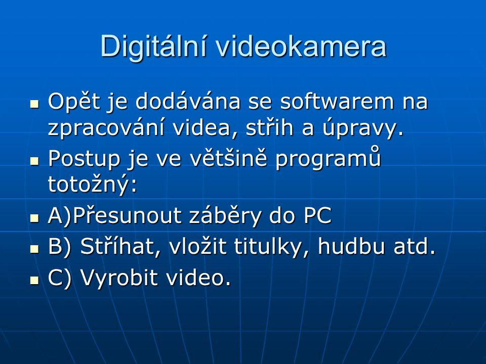 Digitální videokamera