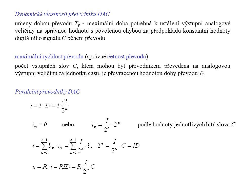 Dynamické vlastnosti převodníku DAC