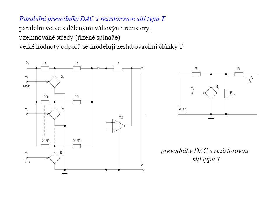 Paralelní převodníky DAC s rezistorovou sítí typu T