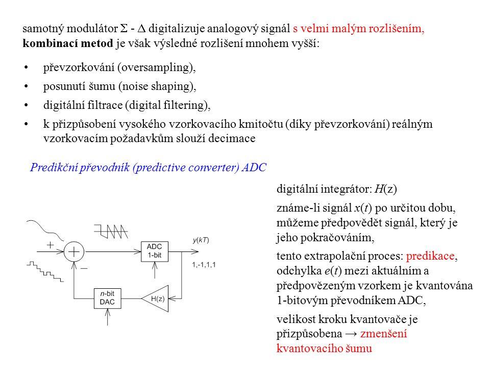 samotný modulátor  -  digitalizuje analogový signál s velmi malým rozlišením, kombinací metod je však výsledné rozlišení mnohem vyšší: