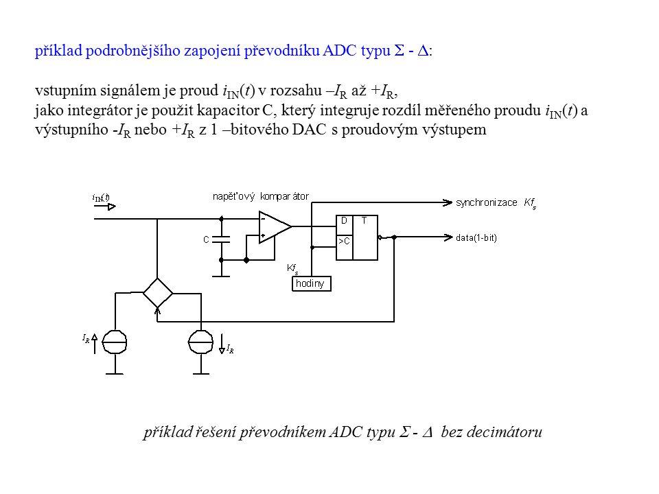 příklad podrobnějšího zapojení převodníku ADC typu  - :