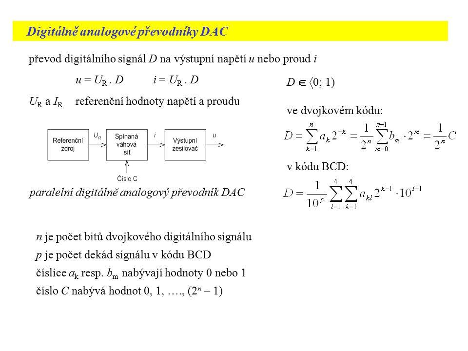 Digitálně analogové převodníky DAC