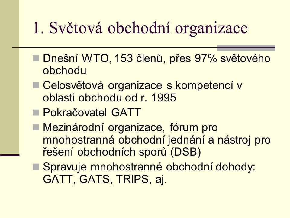 1. Světová obchodní organizace