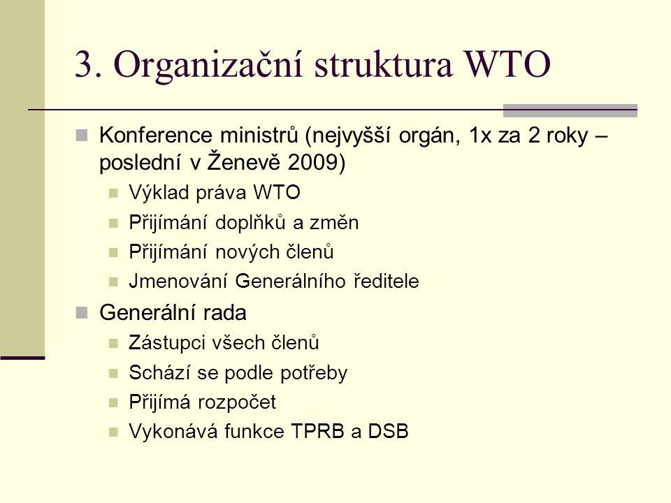 3. Organizační struktura WTO
