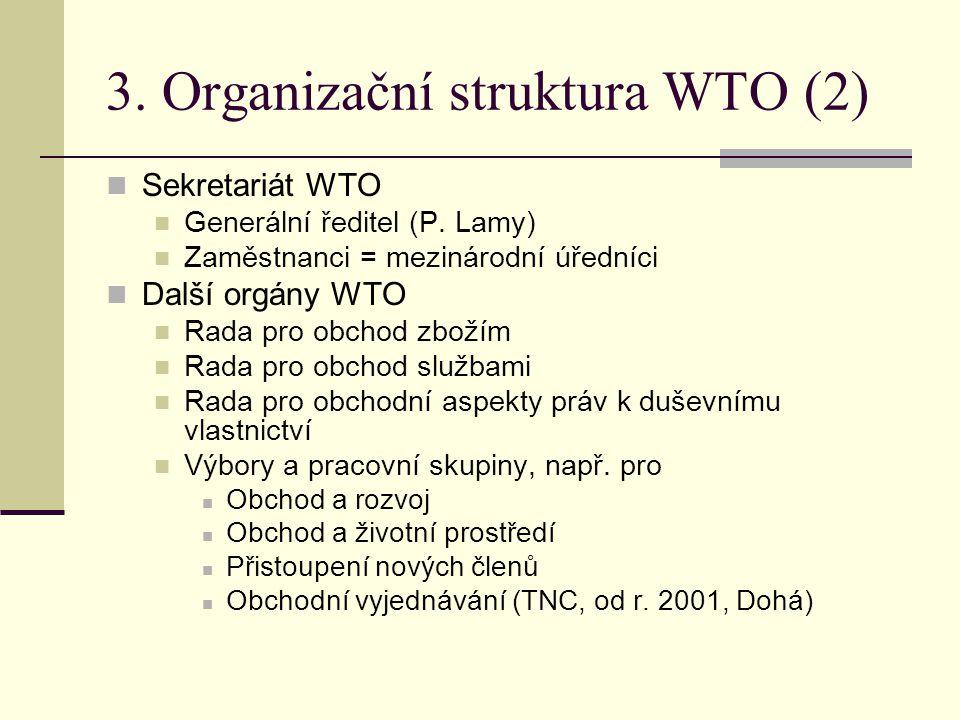 3. Organizační struktura WTO (2)