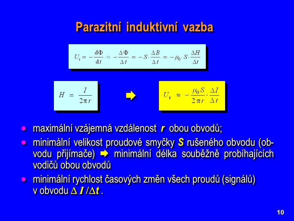 Parazitní induktivní vazba