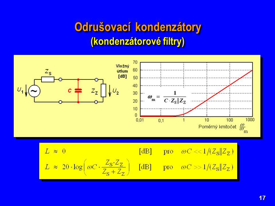 Odrušovací kondenzátory (kondenzátorové filtry)