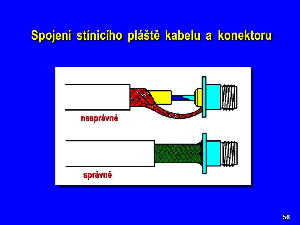 Spojení stínicího pláště kabelu a konektoru