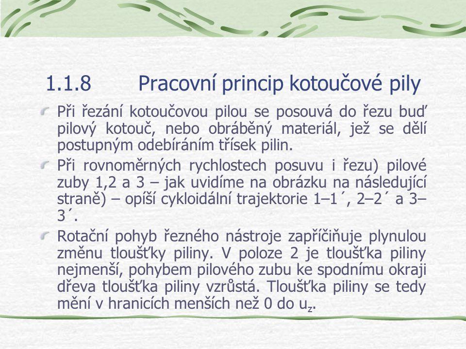 1.1.8 Pracovní princip kotoučové pily