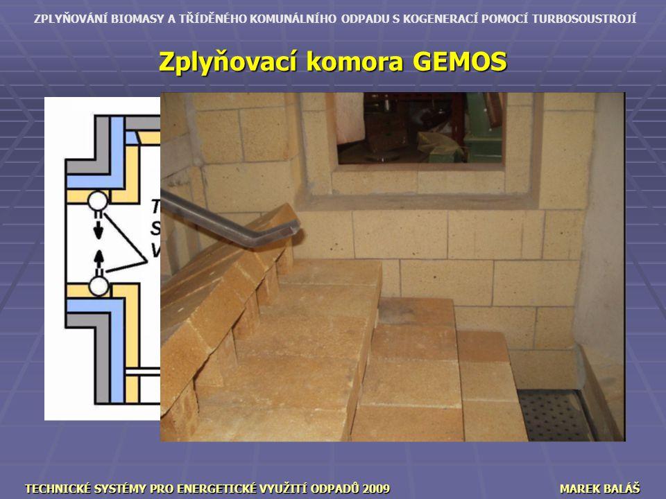 Zplyňovací komora GEMOS