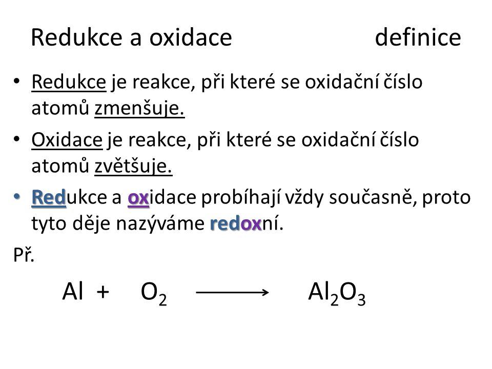 Redukce a oxidace definice