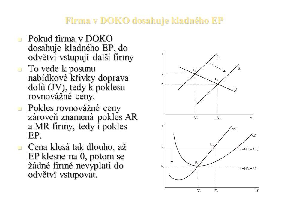 Firma v DOKO dosahuje kladného EP