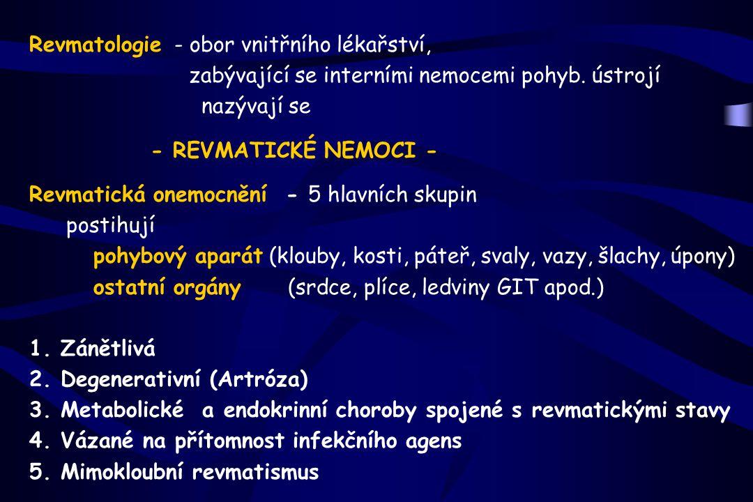 Revmatologie - obor vnitřního lékařství,