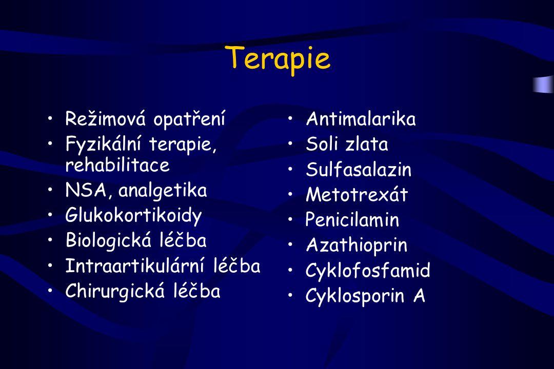 Terapie Režimová opatření Fyzikální terapie, rehabilitace