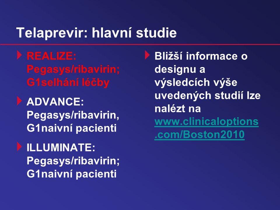 Telaprevir: hlavní studie