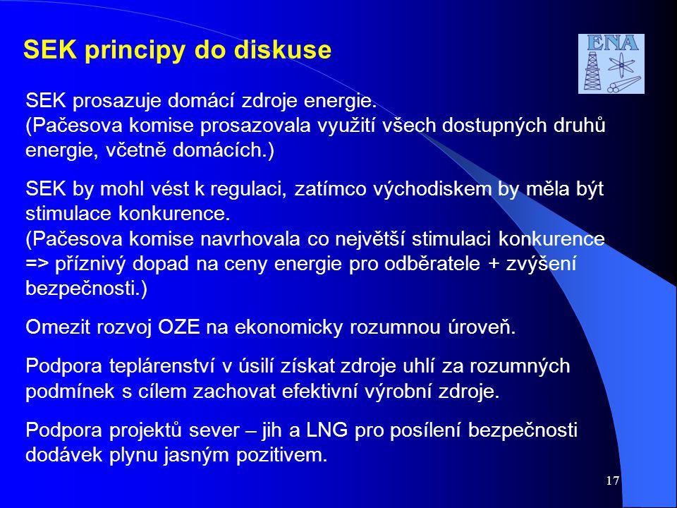 SEK principy do diskuse
