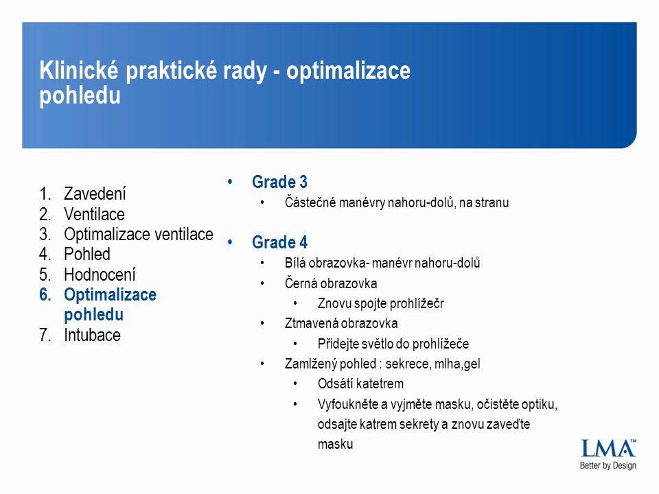 Klinické praktické rady - optimalizace pohledu