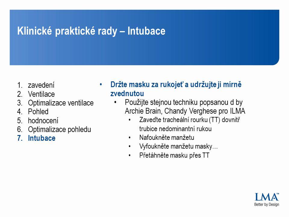 Klinické praktické rady – Intubace