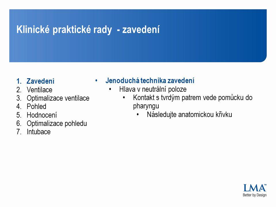 Klinické praktické rady - zavedení