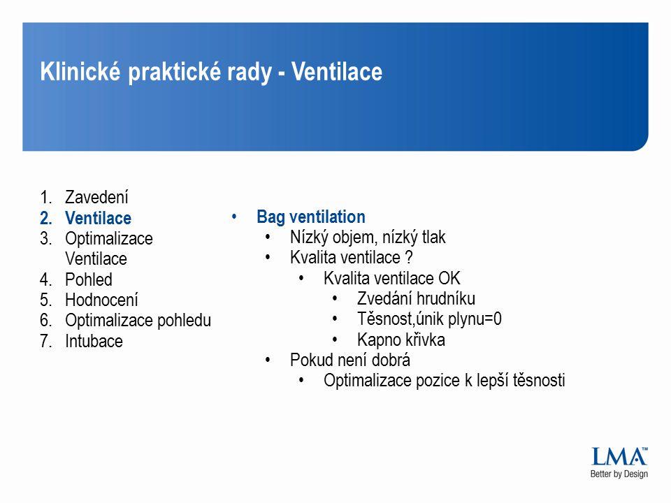 Klinické praktické rady - Ventilace