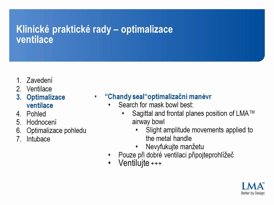 Klinické praktické rady – optimalizace ventilace