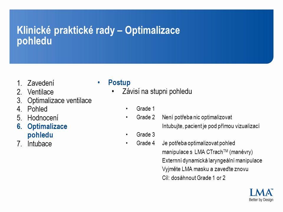 Klinické praktické rady – Optimalizace pohledu