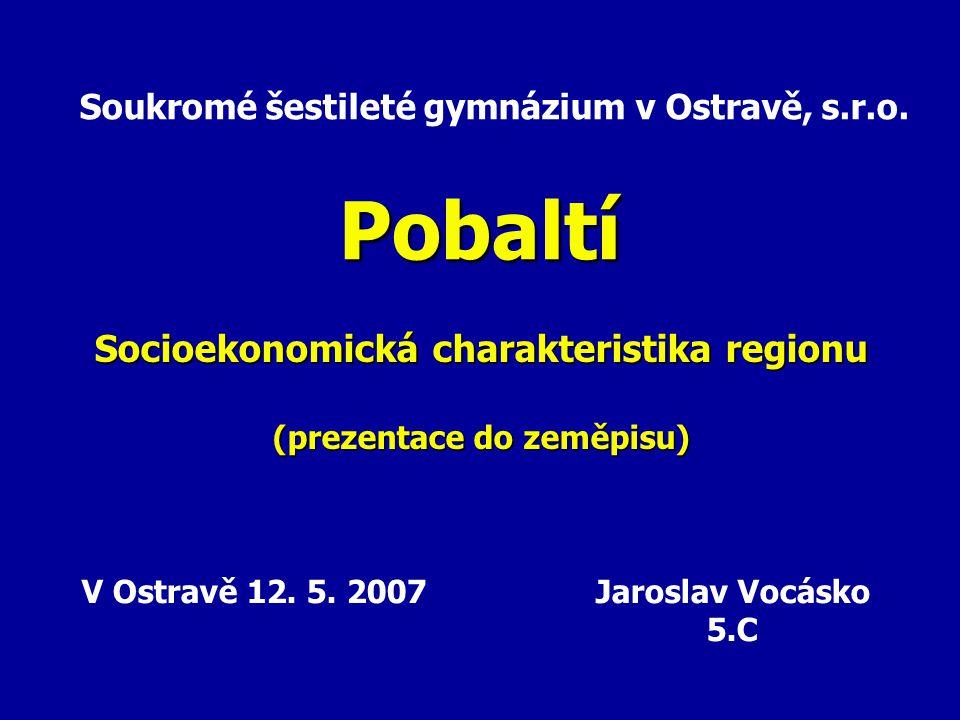 Socioekonomická charakteristika regionu (prezentace do zeměpisu)