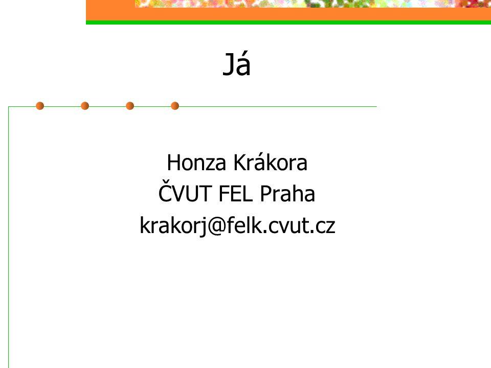 Já Honza Krákora ČVUT FEL Praha krakorj@felk.cvut.cz