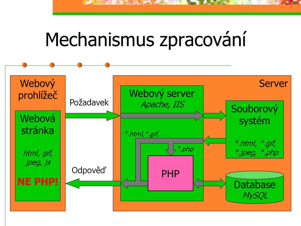 Mechanismus zpracování
