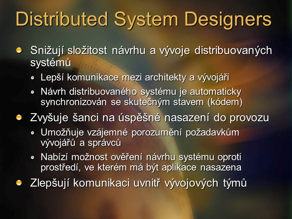 Distributed System Designers