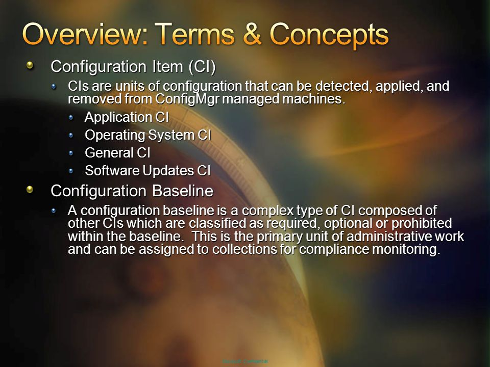 Overview: Terms & Concepts
