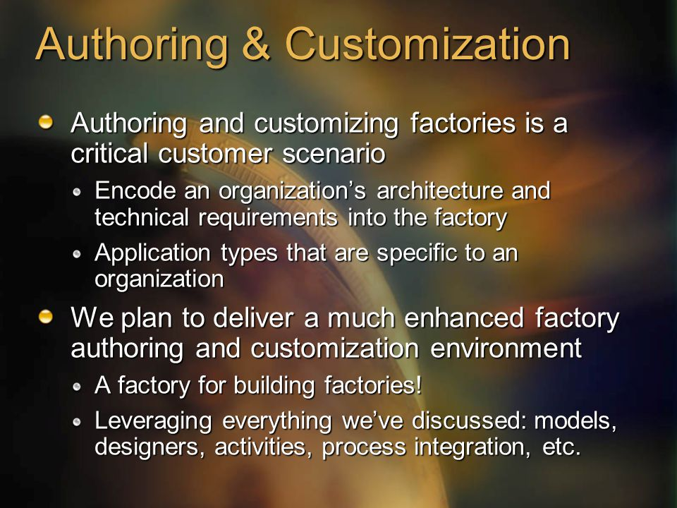 Authoring & Customization