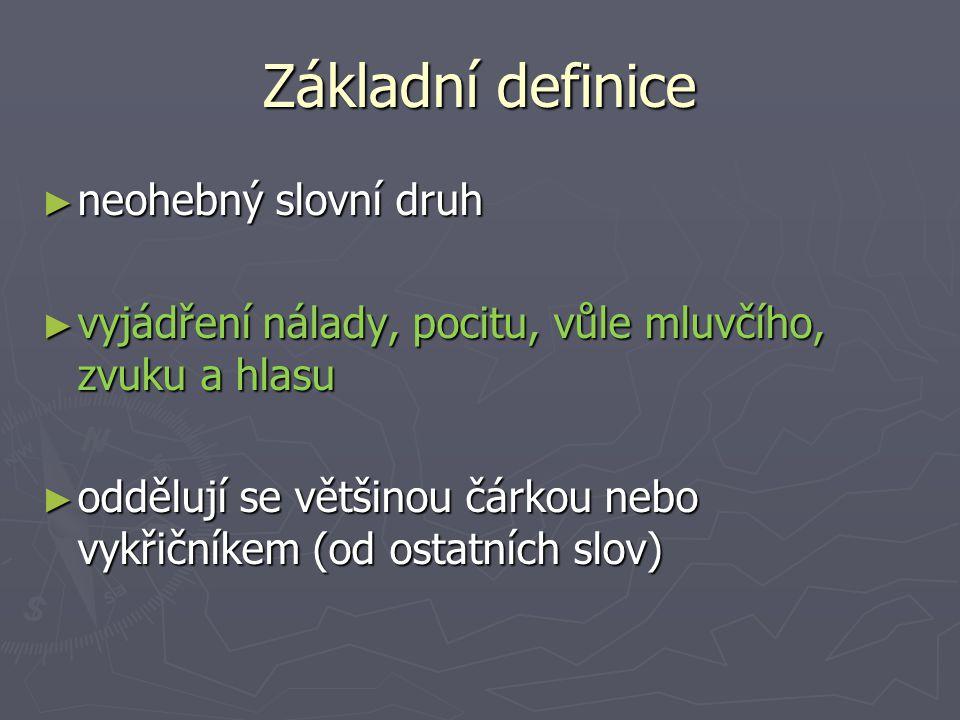 Základní definice neohebný slovní druh