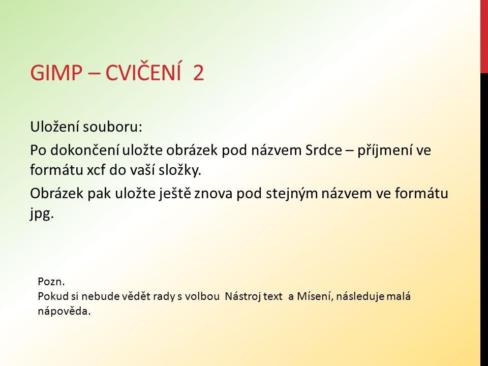 Gimp – cvičení 2