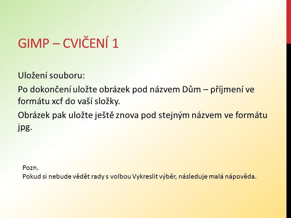 Gimp – cvičení 1
