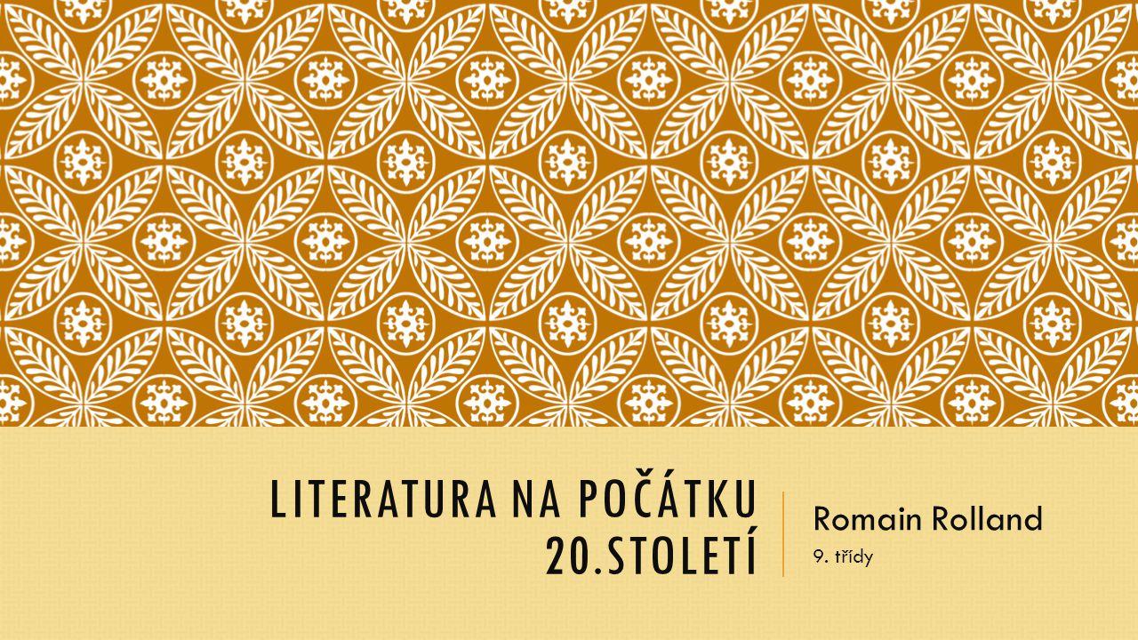 Literatura na počátku 20.století