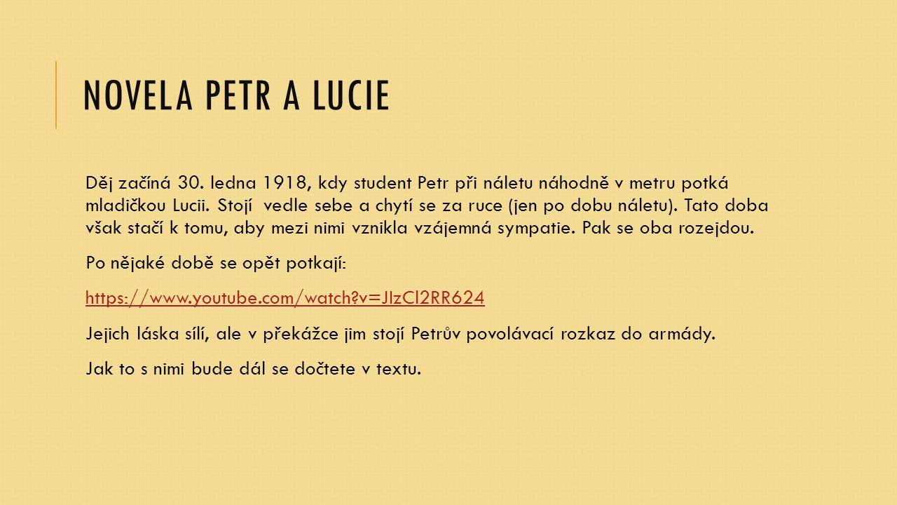 Novela PETR A LUCIE