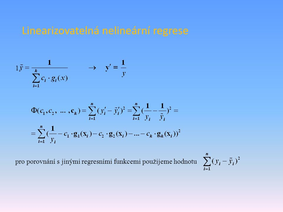 Linearizovatelná nelineární regrese