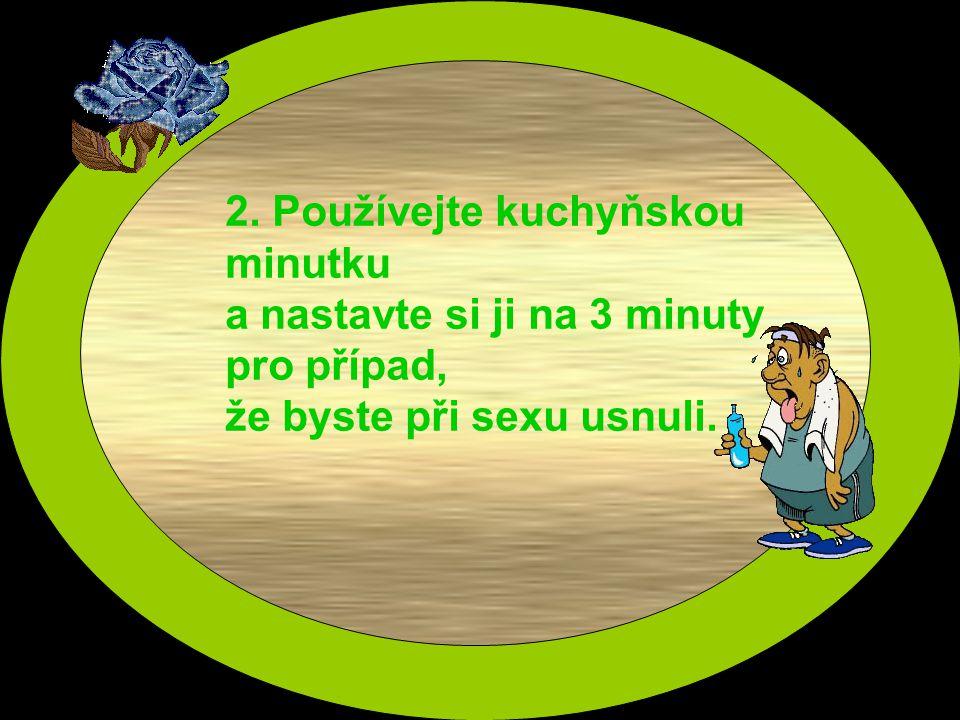 2. Používejte kuchyňskou minutku