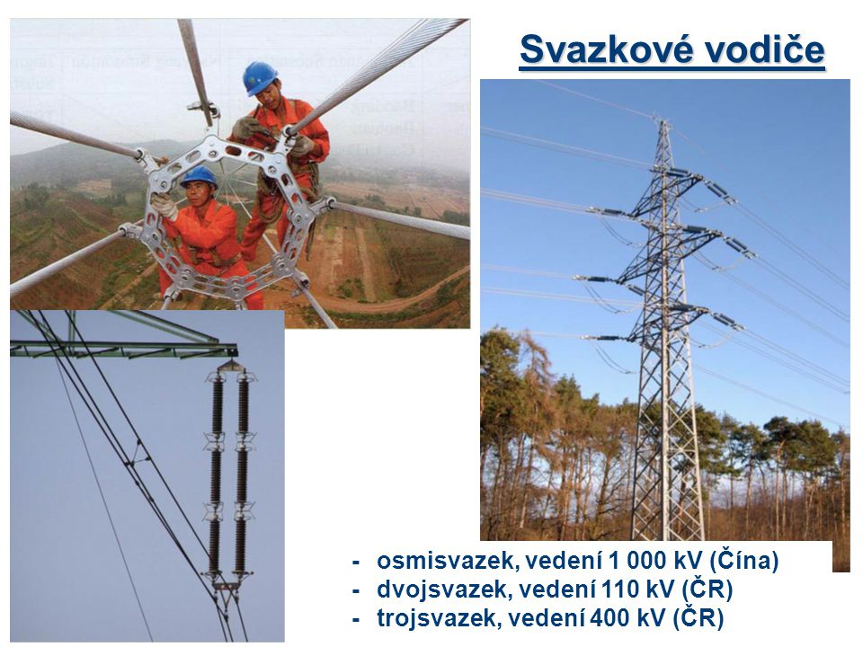 Svazkové vodiče - osmisvazek, vedení 1 000 kV (Čína)