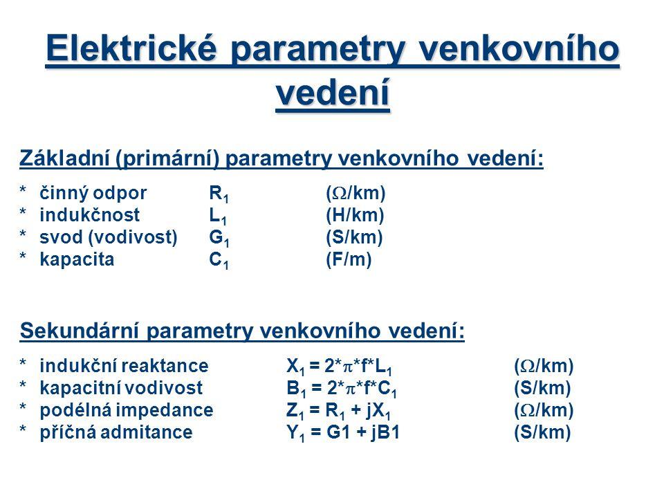 Elektrické parametry venkovního vedení
